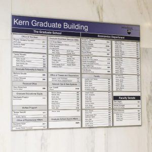 building directory signs in Lake Bluff IL